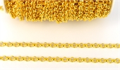 Base Metal 5.5mm Belcher chain per M GOL-base metal-Beadthemup