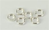 Sterling Silver jump ring 1/2 round 9mm 4 pack-findings-Beadthemup