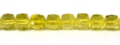 Lemon Quartz Faceted Cube approx 8mm EACH-gemstone beads-Beadthemup