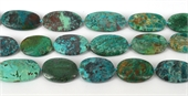 Chrysocolla Polished Flat nugget approx 38x24mm EACH Bead-chrysocolla-Beadthemup