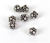 Sterling Silver Plate Copper OX Bead 6x6mm 10 pack-925 silver plate copper-Beadthemup