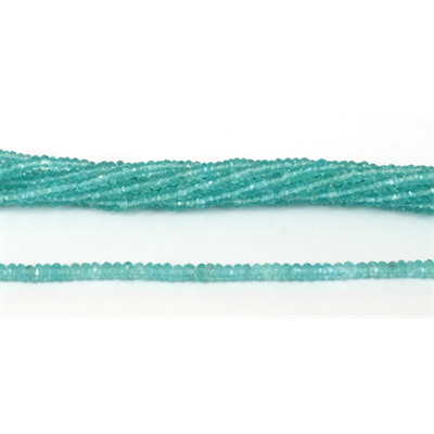Apatite Faceted Rondel 3x2mm strand