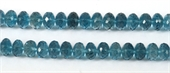 London Blue Topaz Faceted Rondel 7x5mm EACH-beads incl pearls-Beadthemup